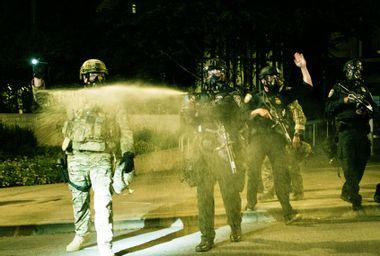 Federal Officers; Tear Gas; Portland