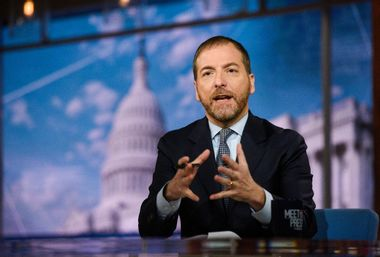 Image for Chuck Todd haters, we take your point – but it doesn't look like he's going anywhere