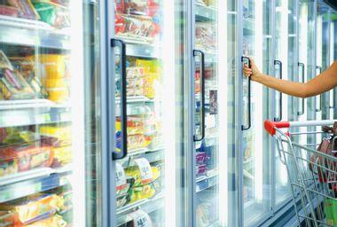 Shopping in frozen food aisle