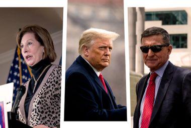 Sidney Powell; Donald Trump; Mike Flynn