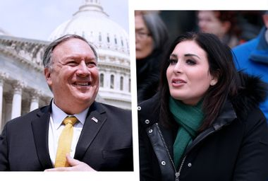 Mike Pompeo and Trump rub shoulders with anti-Muslim zealot Laura Loomer at Mar-a-Lago event