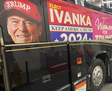 "Just say no: Reagan Foundation demands ""Trump Train"" bus remove image of Gipper in MAGA hat"