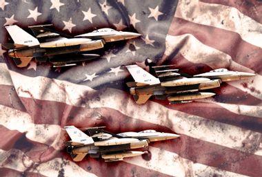 American Drone Strike concept