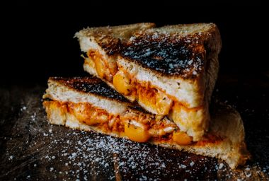 The secret ingredient in this magical grilled cheese is pumpkin butter
