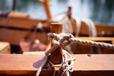 Rope Tied To A Boat