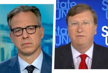 CNN's Jake Tapper during an interview with Mississippi Gov. Tate Reeves on Sept. 19, 2021.