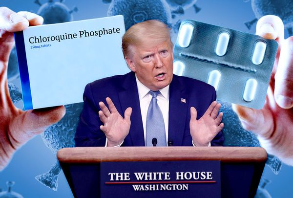 This President Has Blood on His Hands: Trump Again Urges Public to Take Anti-Malaria Drug for