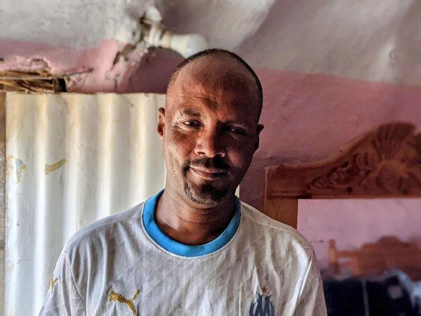 Dr. Mebrahtom Yehdago, 37, in Tenedba refugee camp, Sudan