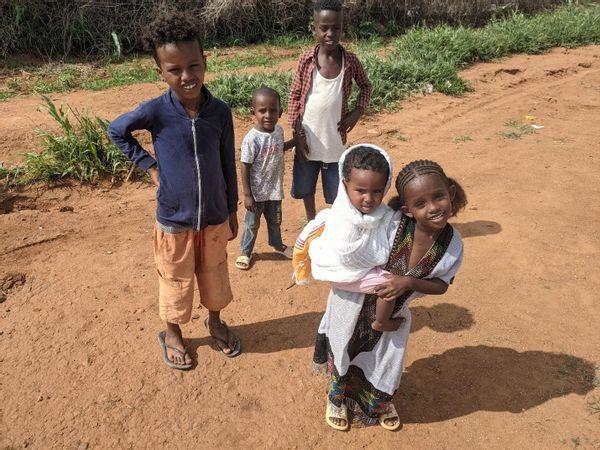 Tigrayan refugee children in Um Rakuba, Sudan