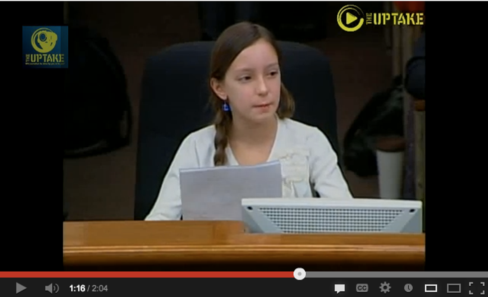 An 11-year-old girl denounces marriage equality