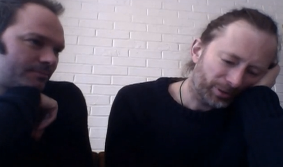 Thom Yorke and Nigel Godrich give relationship advice to girls