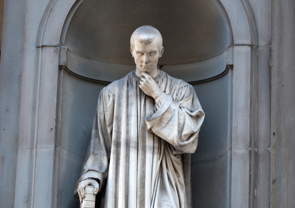 Machiavelli doesn't belong to the 1 percent