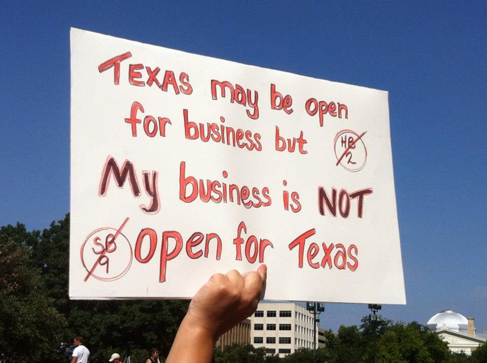 "Six amazing signs from the ""Stand with Texas Women"" rally"