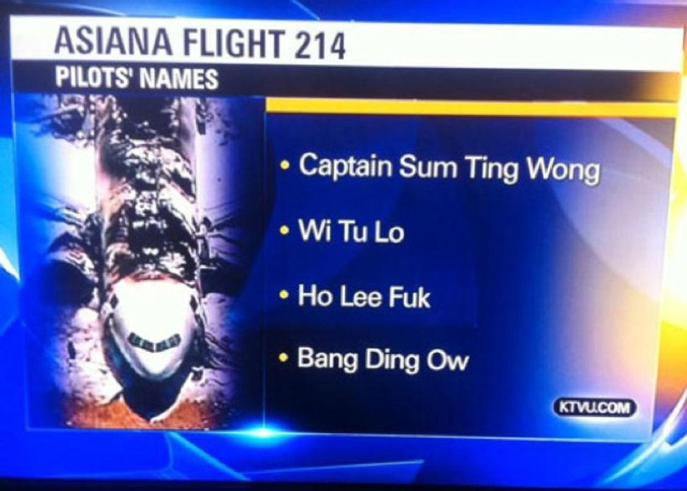 KTVU reportedly checked pronunciation of fake pilot names with Chinese-American editor