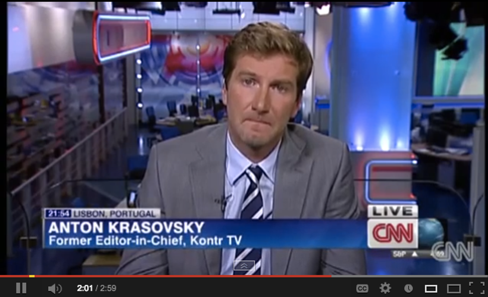 Russian television anchor comes out on air, is immediately fired