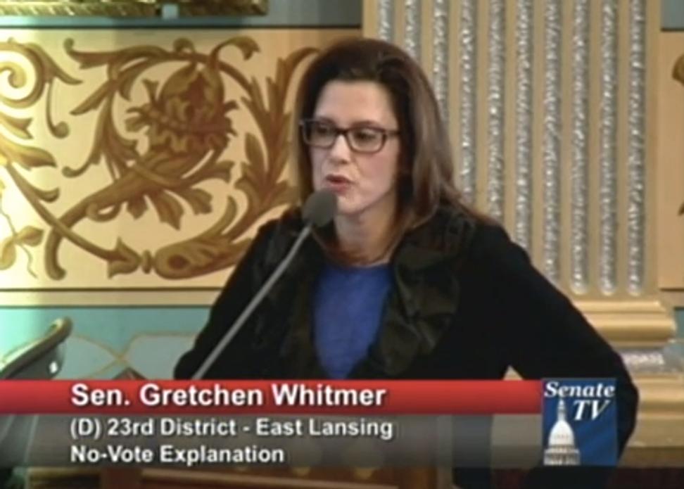"Michigan lawmaker reveals she is a rape survivor in powerful testimony against new ""rape insurance"" law"