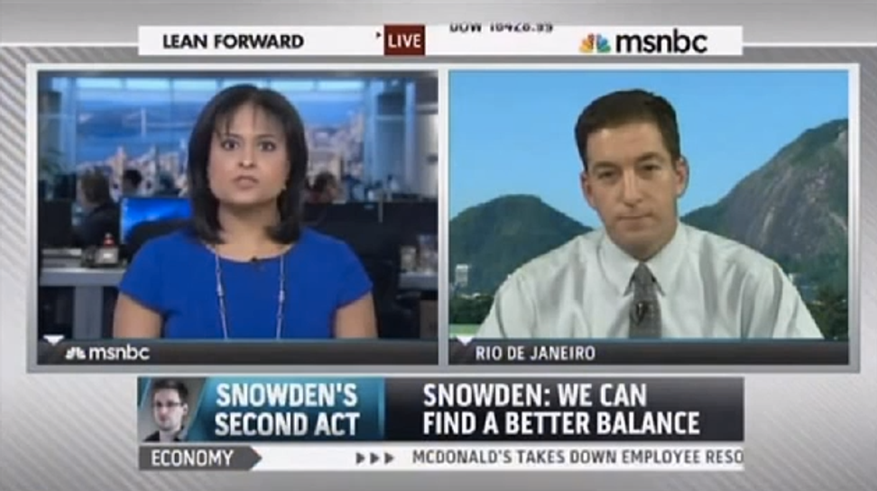 Must see morning clip: Glenn Greenwald jabs MSNBC Obamabots