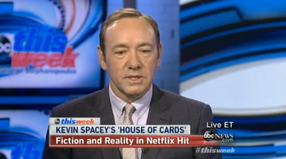 Kevin Spacey: President Obama probably has Frank Underwood envy