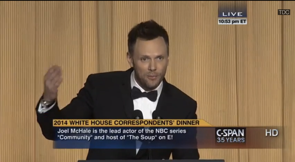 Joel McHale's 5 best lines from the White House Correspondents' Dinner