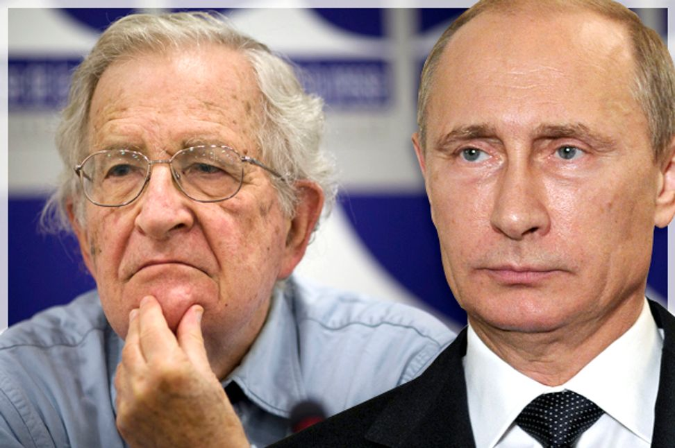 Strange bedfellows: Putin, the Chomskyite left and the ghosts of the Cold War   Salon.com