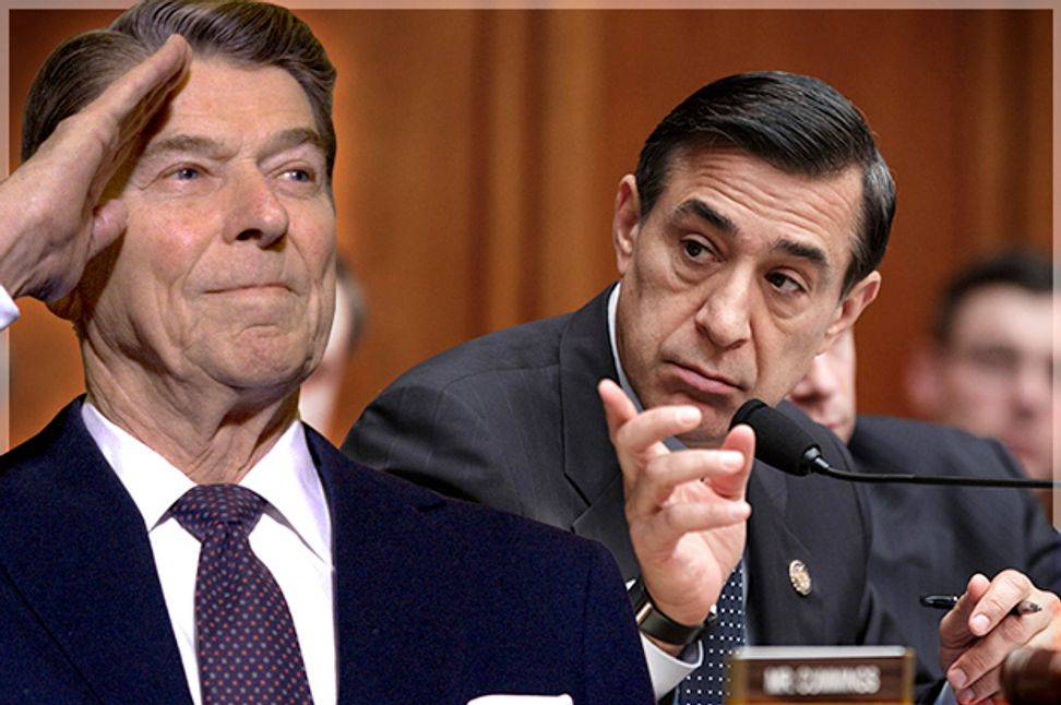 Darrell Issa's dicey Reagan shtick: What's really behind the buffoon's antics