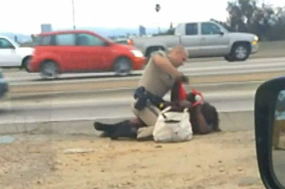 """Police officer who brutally pummeled homeless grandmother could face """"serious charges"""""""