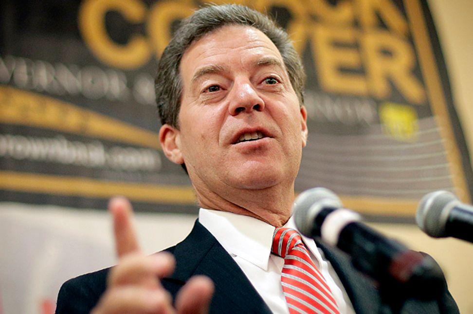 Kansas Gov. Sam Brownback on his growing unpopularity: It's Obama's fault!