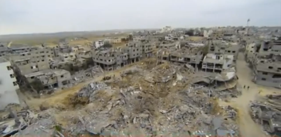 Drone footage reveals what little now remains of Gaza