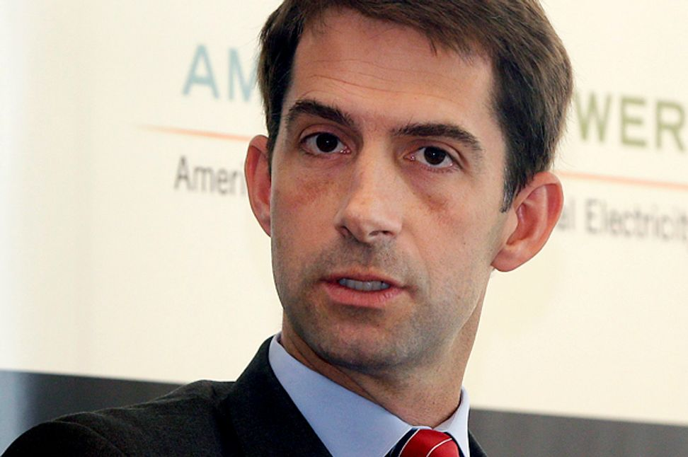 """""""Sarah Palin with a Harvard degree"""": Why new senator Tom Cotton is so frightening"""