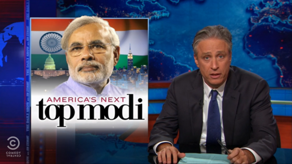 """Jon Stewart dubs Indian PM the """"next Ronald Reagan for the world"""""""