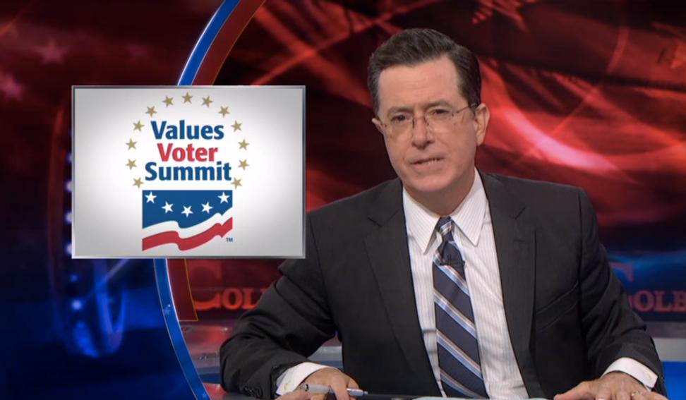 Stephen Colbert mocks Ted Cruz, Sarah Palin and Bobby Jindal in epic Values Voter Summit takedown