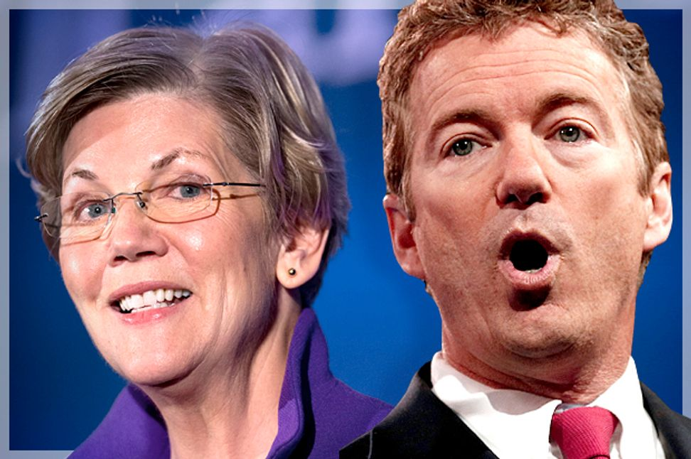 Why Elizabeth Warren and Rand Paul offer glimmers of hope — but not for 2016 | Salon.com
