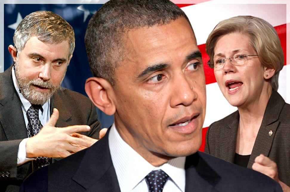 He's not suddenly Paul Krugman: Let's not morph Obama into Elizabeth Warren quite yet | Salon.com