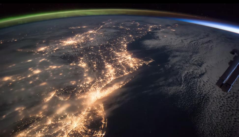 Stunning NASA video shows aurora borealis meeting the sunrise