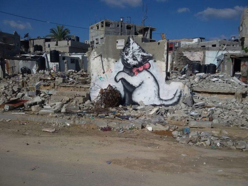 Banksy beautifies Gaza by reminding us of its devastation   Salon.com