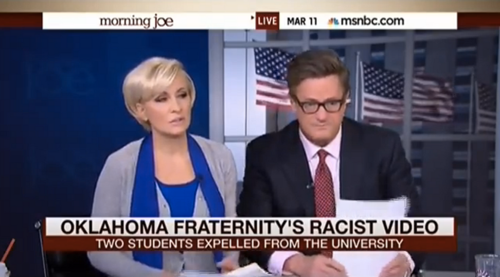 """Morning Joe"" couldn't be more dumb: Blames rap music for frat-boy racism"