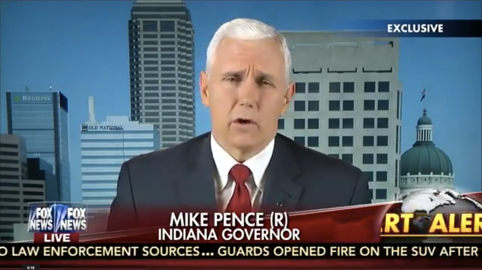 Mike Pence defends religious freedom bill by mentioning Selma