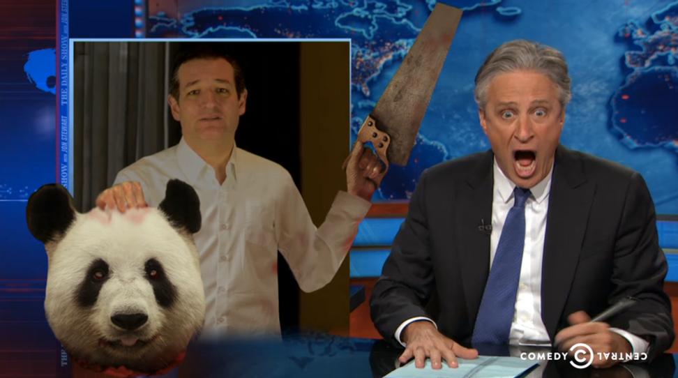 """Are you f**king kidding me?!"": Jon Stewart mocks the GOP's apocalyptic Hillary freakout"