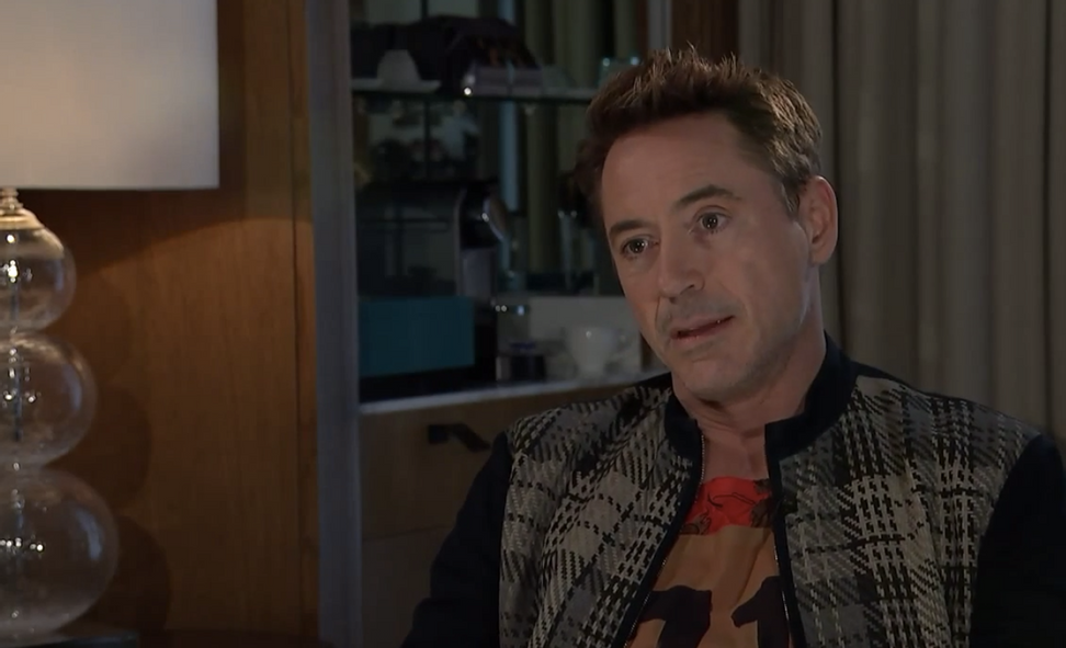 """Robert Downey Jr. storms out of interview after drug question: """"It's just getting a little Diane Sawyer in here"""""""