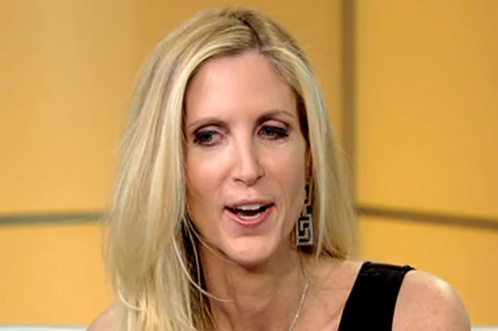"Ann Coulter's nativist bigotry gets ripped to shreds in debate: ""When it's white people it's irrelevant, but when it's not white people it is primitive"""