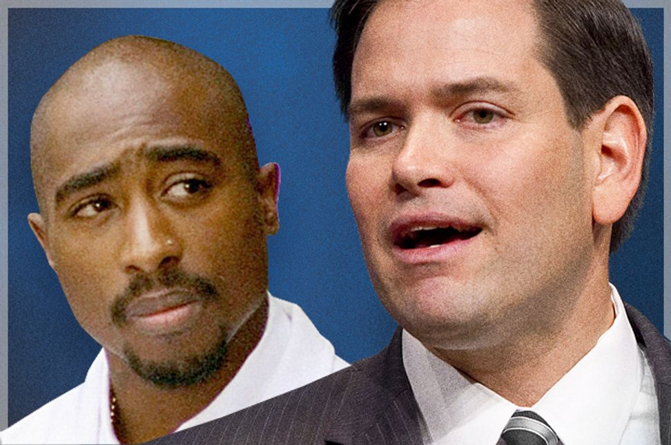 """Marco Rubio's cynical Tupac fandom: Why """"I don't listen to music for the politics"""" is a hip-hop cop-out 