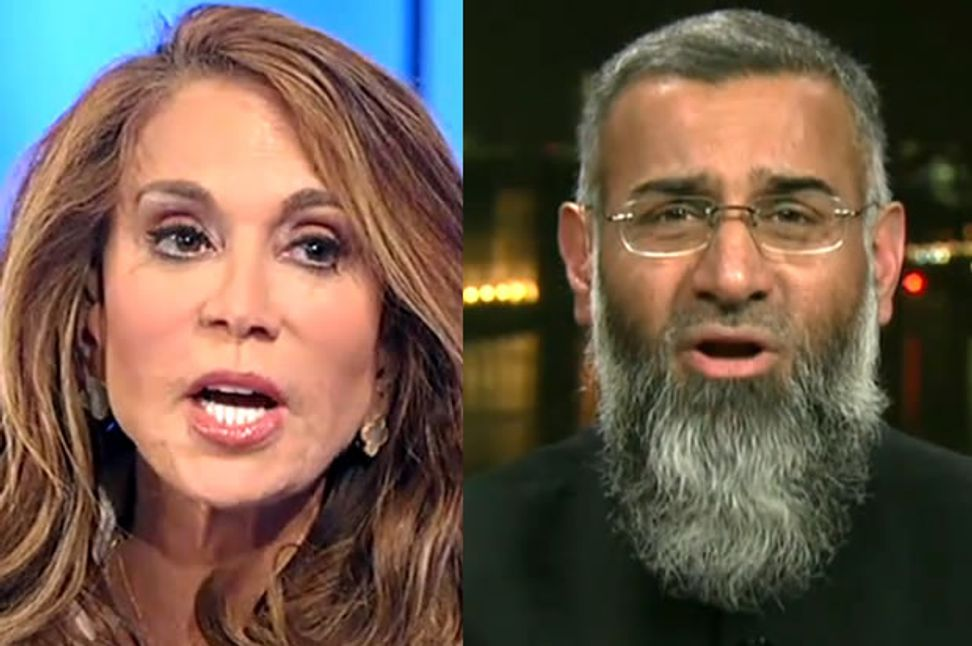 """""""You want her to die!"""": Watch Pam Geller and Anjem Choudary brawl on """"Hannity"""""""