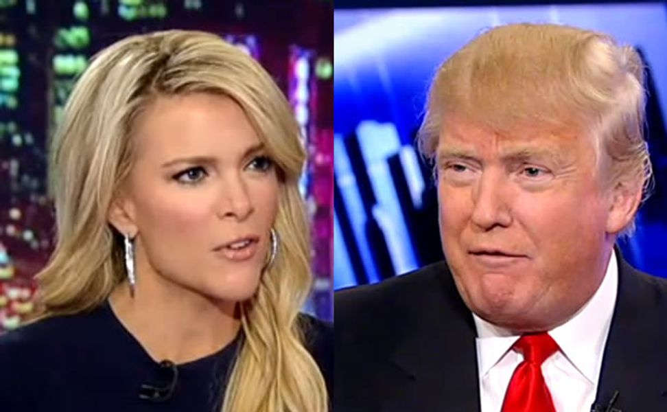"""""""America is a hellhole, and we're going down fast"""": Donald Trump and Megyn Kelly have a testy exchange about state of the nation"""