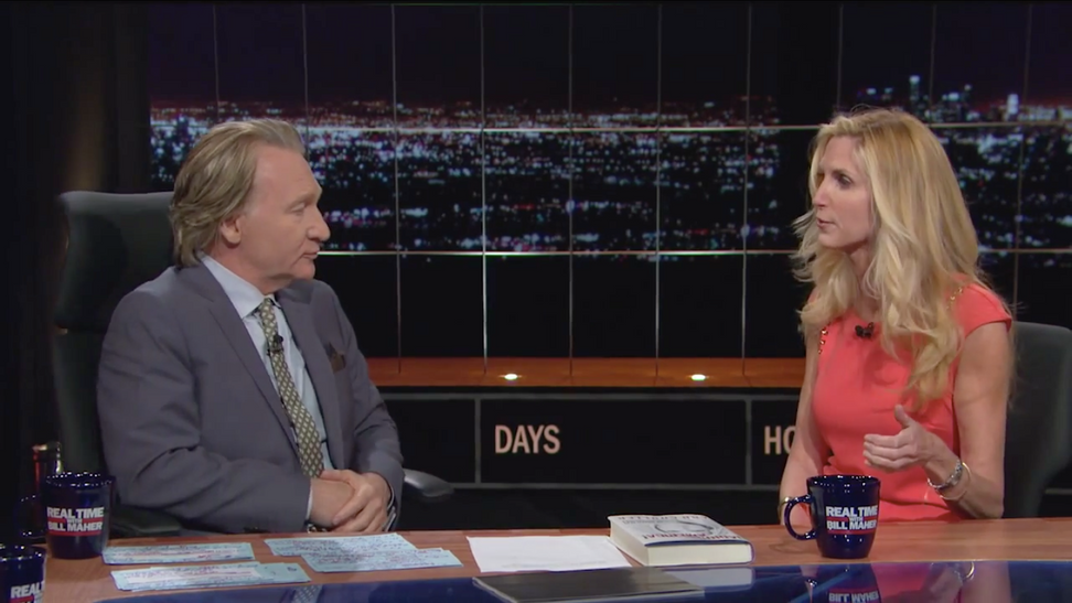 """Bill Maher slams Ann Coulter over immigration, asks how """"imaginary friend Jesus Christ"""" would feel about her attitude"""