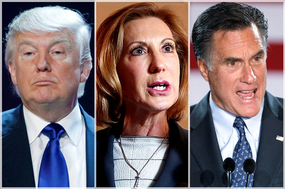 Save us from GOP businessmen! Donald Trump, Carly Fiorina, Mitt Romney and the big lie about big business