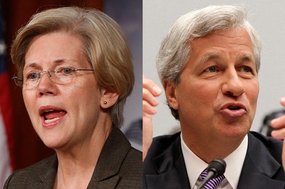 Elizabeth Warren dresses down Jamie Dimon: Senator fires back at JPMorgan's mansplainer-in-chief