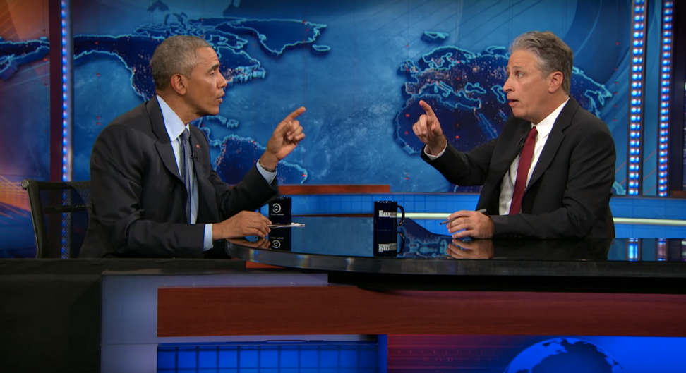 Barack Obama subtly burns Donald Trump & GOP in his final interview with Jon Stewart