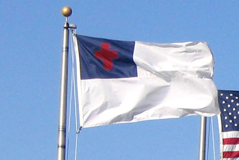 Small town Alabama mayor: Big city atheists forced him to remove blatantly unconstitutional Christian flag from city hall