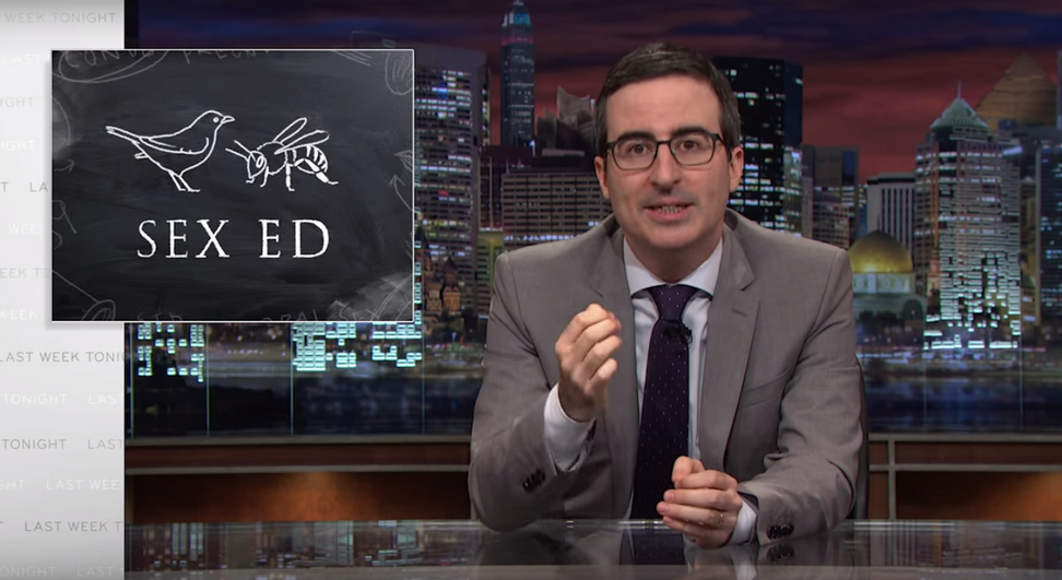 """John Oliver is totally flabbergasted by American sex education: """"That is some incredible misinformation!"""""""