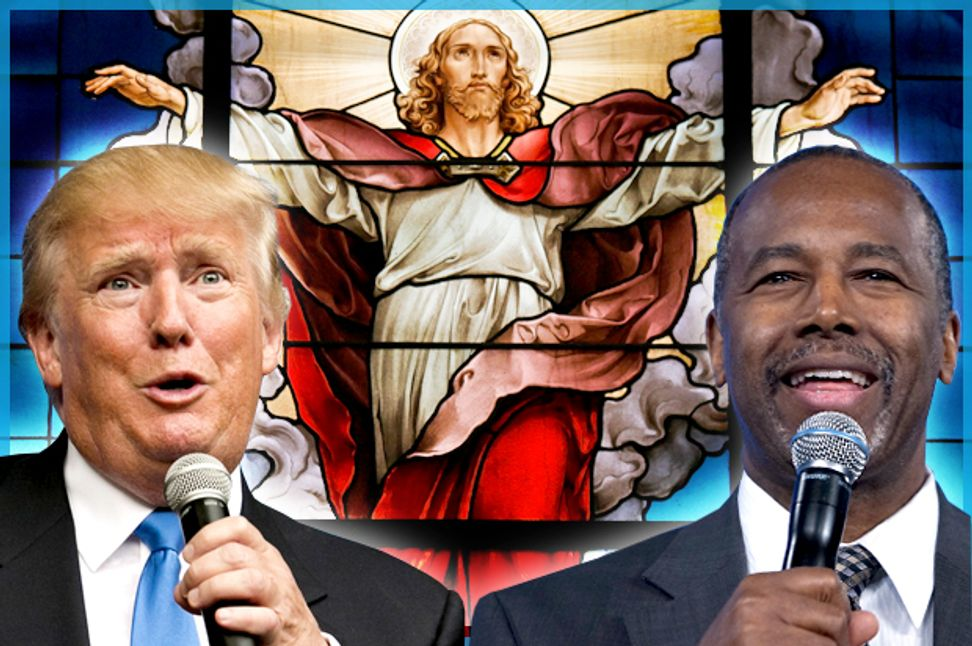 These religious clowns should scare you: GOP candidates' gullible, lunatic faith is a massive character flaw | Salon.com